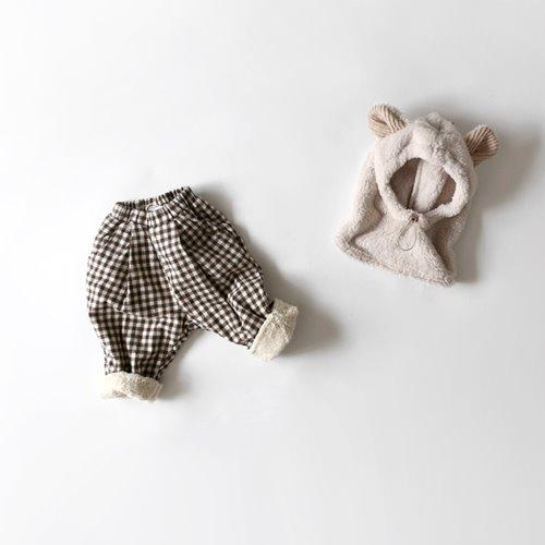 HETZEBEBE - BRAND - Korean Children Fashion - #Kfashion4kids - Warm Check Baggy Pants