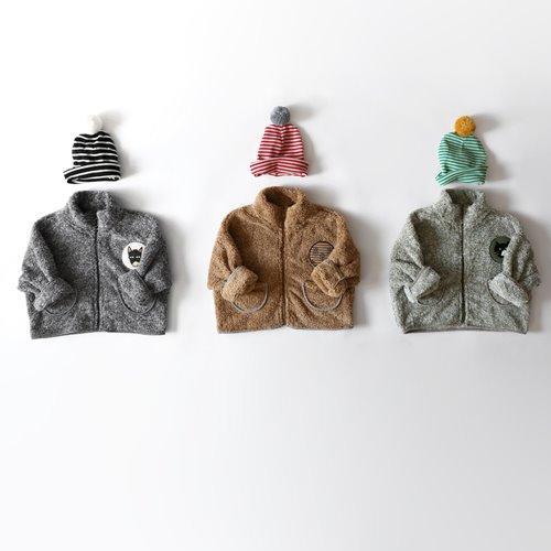 HETZEBEBE - BRAND - Korean Children Fashion - #Kfashion4kids - Cozy Wappen Zip-up Outer