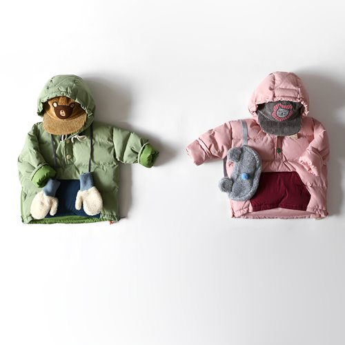 HETZEBEBE - BRAND - Korean Children Fashion - #Kfashion4kids - Bullky Pocket Padding Jumper