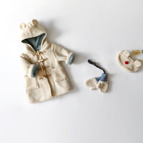 HETZEBEBE - BRAND - Korean Children Fashion - #Kfashion4kids - Bear Embossing Coat
