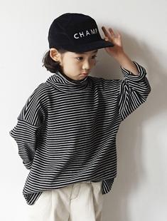 HONEYBEE - BRAND - Korean Children Fashion - #Kfashion4kids - Stripe Polar Tee