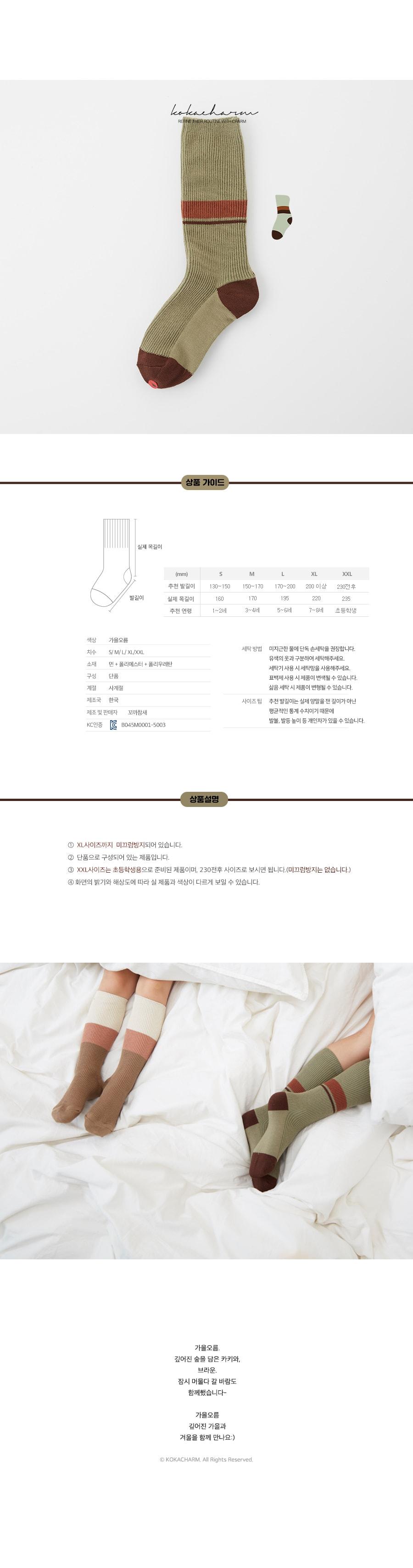 KOKACHARM - Korean Children Fashion - #Kfashion4kids - Autumn Socks