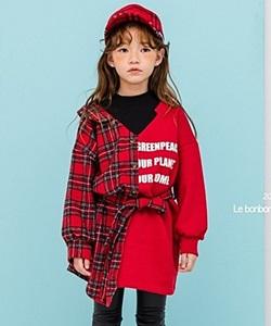 LE BONBON - BRAND - Korean Children Fashion - #Kfashion4kids - Layered Shirts One-piece