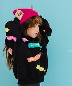 LE BONBON - BRAND - Korean Children Fashion - #Kfashion4kids - Lettering Neon Tee