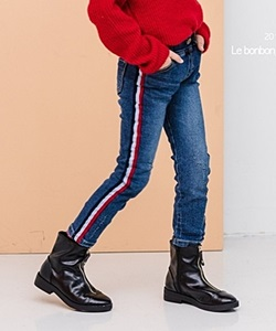 LE BONBON - BRAND - Korean Children Fashion - #Kfashion4kids - Side Line Fleece Skinny