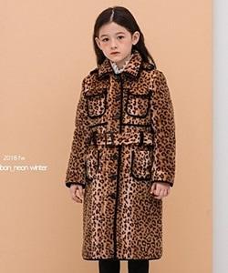 LE BONBON - BRAND - Korean Children Fashion - #Kfashion4kids - Leopard Coat