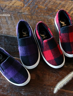 NAMOO & KIDS - BRAND - Korean Children Fashion - #Kfashion4kids - Check Slip-on