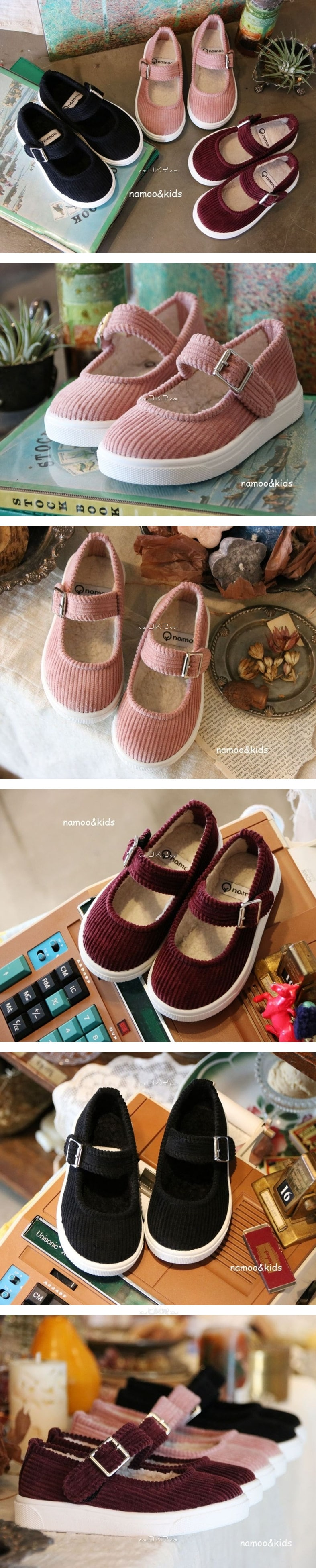 NAMOO & KIDS - Korean Children Fashion - #Kfashion4kids - Corduroy Candy Slip-on