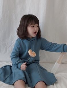 POISSON - BRAND - Korean Children Fashion - #Kfashion4kids - Coco Hoodie Dress