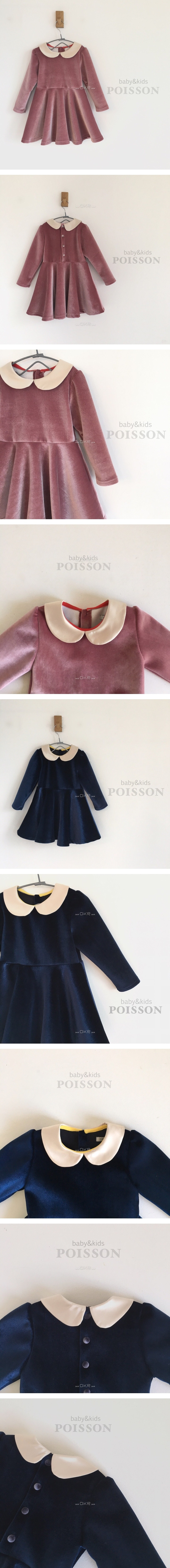 POISSON - Korean Children Fashion - #Kfashion4kids - Velvet Dress