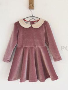 POISSON - BRAND - Korean Children Fashion - #Kfashion4kids - Velvet Dress