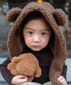 SEWING-B - BRAND - Korean Children Fashion - #Kfashion4kids - Bear Muffler Hat