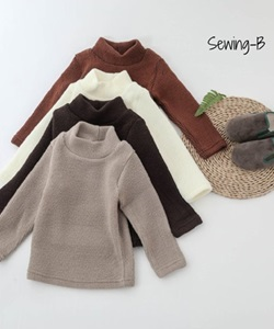 SEWING-B - BRAND - Korean Children Fashion - #Kfashion4kids - Knit Turtleneck Tee