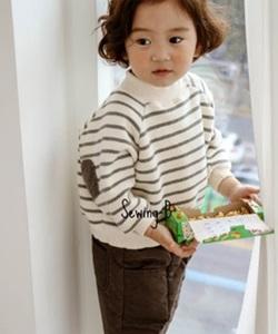 SEWING-B - BRAND - Korean Children Fashion - #Kfashion4kids - Stripe MTM