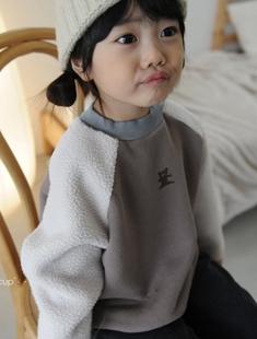 BUTTERCUP - BRAND - Korean Children Fashion - #Kfashion4kids - Bear Fleece Raglan Sleeve Tee