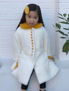 POISSON - BRAND - Korean Children Fashion - #Kfashion4kids - Ivory Coat