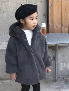 POISSON - BRAND - Korean Children Fashion - #Kfashion4kids - Mink Hood Coat