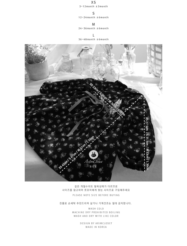 ARIM CLOSET - Korean Children Fashion - #Kfashion4kids - Flower Ribbon Cotton Dress - 3
