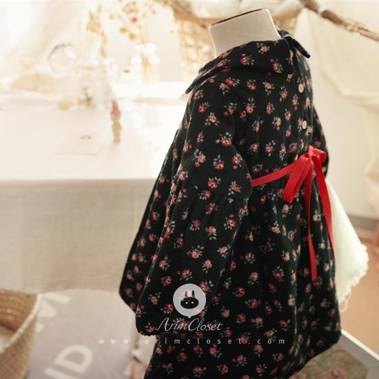 ARIM CLOSET - BRAND - Korean Children Fashion - #Kfashion4kids - Flower Ribbon Cotton Dress