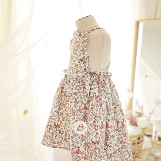 ARIM CLOSET - BRAND - Korean Children Fashion - #Kfashion4kids - Lovely Flower Cotton Dress