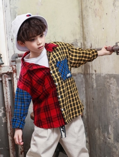 BLUR RUSH - BRAND - Korean Children Fashion - #Kfashion4kids - Multi Colors Check Shirt