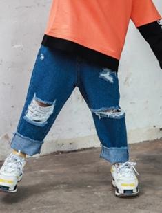 BLUR RUSH - BRAND - Korean Children Fashion - #Kfashion4kids - Denim Vintage Jeans