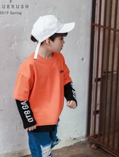 BLUR RUSH - BRAND - Korean Children Fashion - #Kfashion4kids - Off Layered Tee