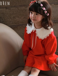 COHEN - BRAND - Korean Children Fashion - #Kfashion4kids - Puff Sleeve Dress