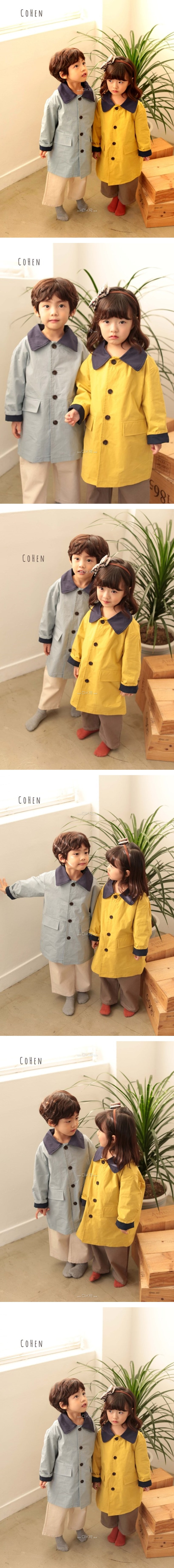 COHEN - Korean Children Fashion - #Kfashion4kids - Trench Coat