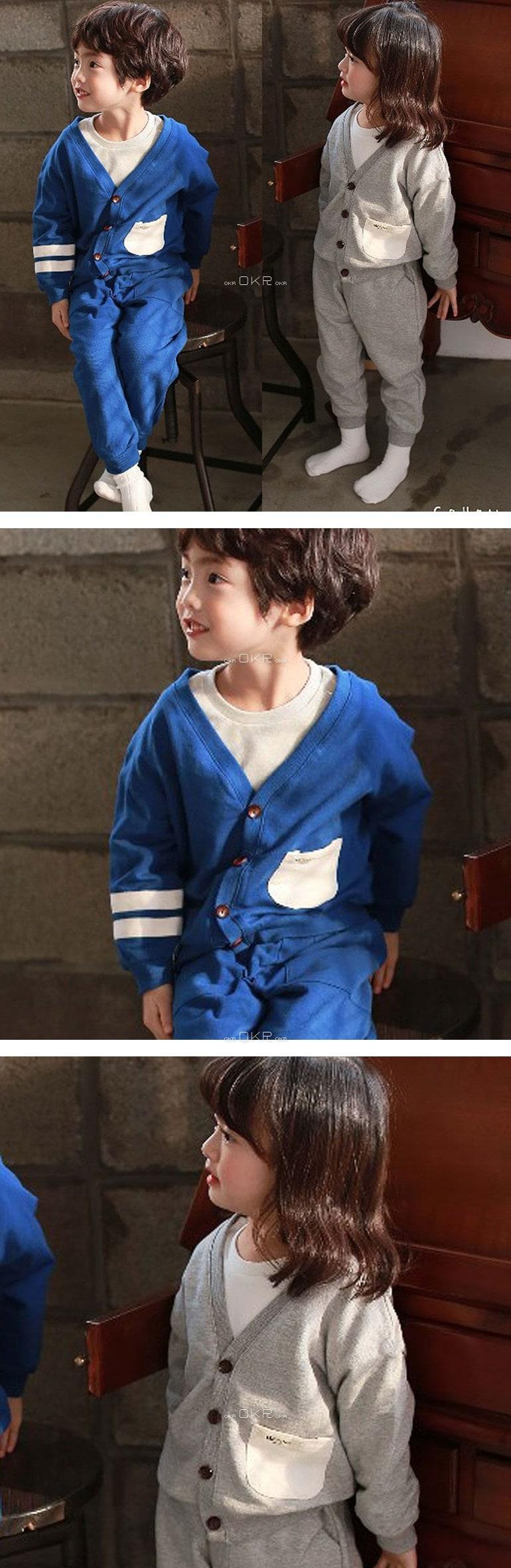 COHEN - Korean Children Fashion - #Kfashion4kids - Brunch Cardigan Pants Set