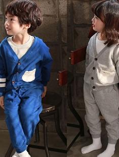 COHEN - BRAND - Korean Children Fashion - #Kfashion4kids - Brunch Cardigan Pants Set