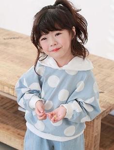 COHEN - BRAND - Korean Children Fashion - #Kfashion4kids - Dot Pooh Hood Tee