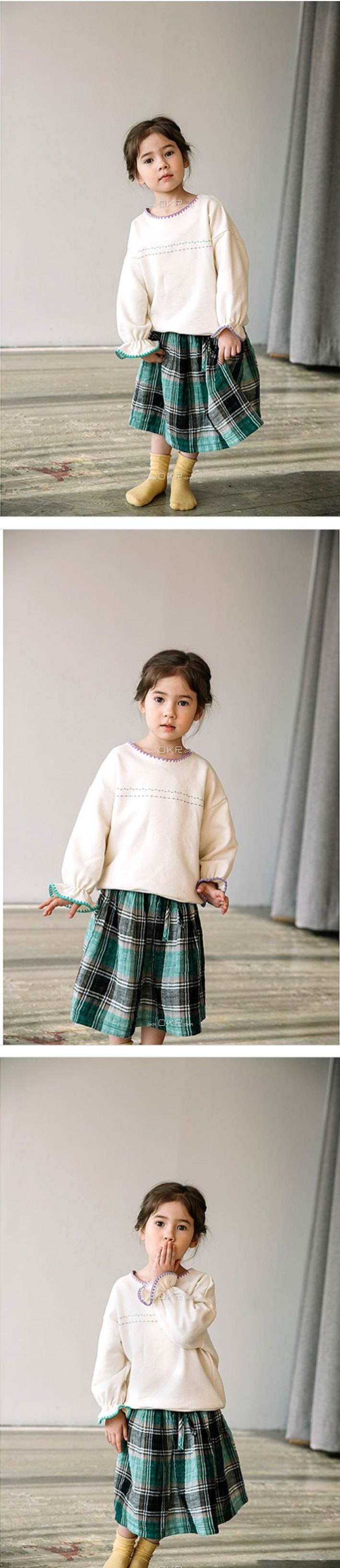 E.RU - Korean Children Fashion - #Kfashion4kids - Check Skirt