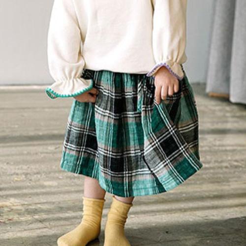 E.RU - BRAND - Korean Children Fashion - #Kfashion4kids - Check Skirt