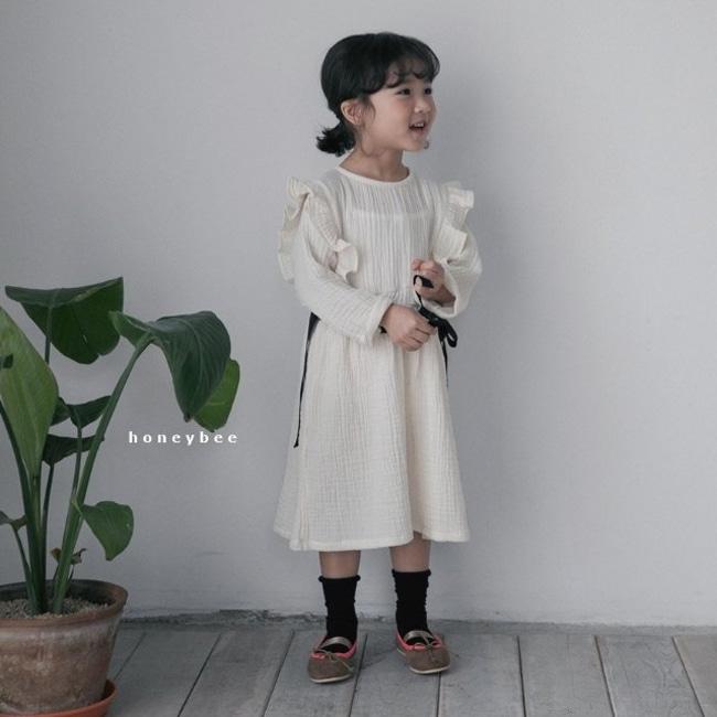 HONEYBEE - BRAND - Korean Children Fashion - #Kfashion4kids - Ribbon Dress