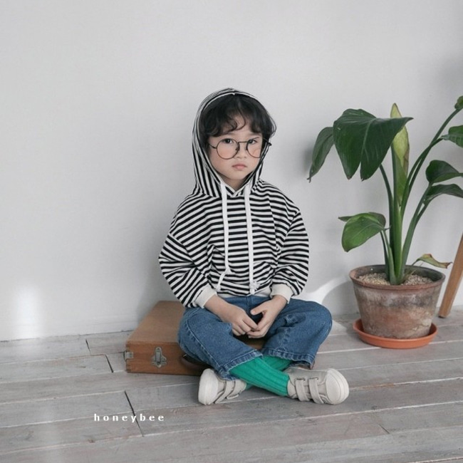 HONEYBEE - BRAND - Korean Children Fashion - #Kfashion4kids - Stripe Hoody