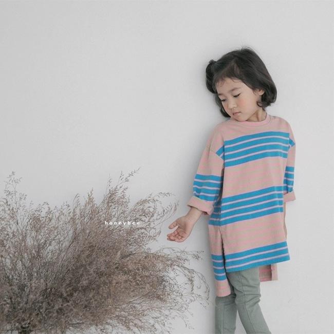 HONEYBEE - BRAND - Korean Children Fashion - #Kfashion4kids - Stripe Long Tee