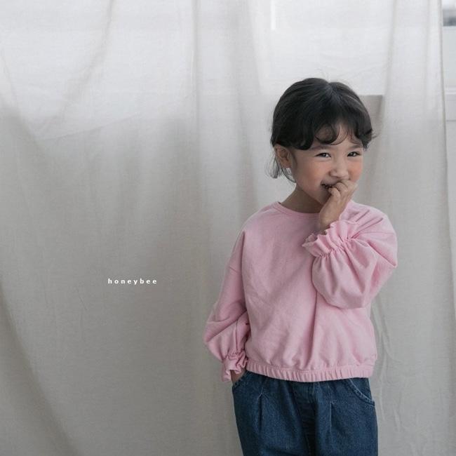 HONEYBEE - BRAND - Korean Children Fashion - #Kfashion4kids - Frill Sleeve Tee