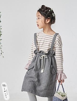 JM SNAIL - BRAND - Korean Children Fashion - #Kfashion4kids - Suspenders Skirt