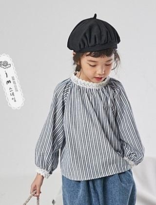 JM SNAIL - BRAND - Korean Children Fashion - #Kfashion4kids - Lace Coloring Blouse