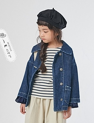 JM SNAIL - BRAND - Korean Children Fashion - #Kfashion4kids - Denim Jacket
