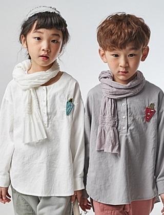 JM SNAIL - BRAND - Korean Children Fashion - #Kfashion4kids - Carrot Patch Shirt