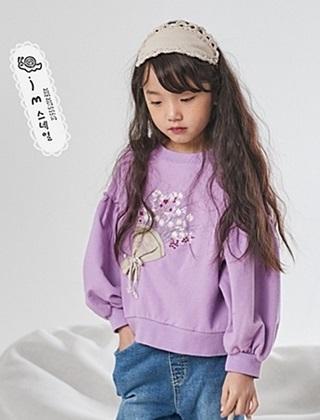 JM SNAIL - BRAND - Korean Children Fashion - #Kfashion4kids - Flower Puff Tee