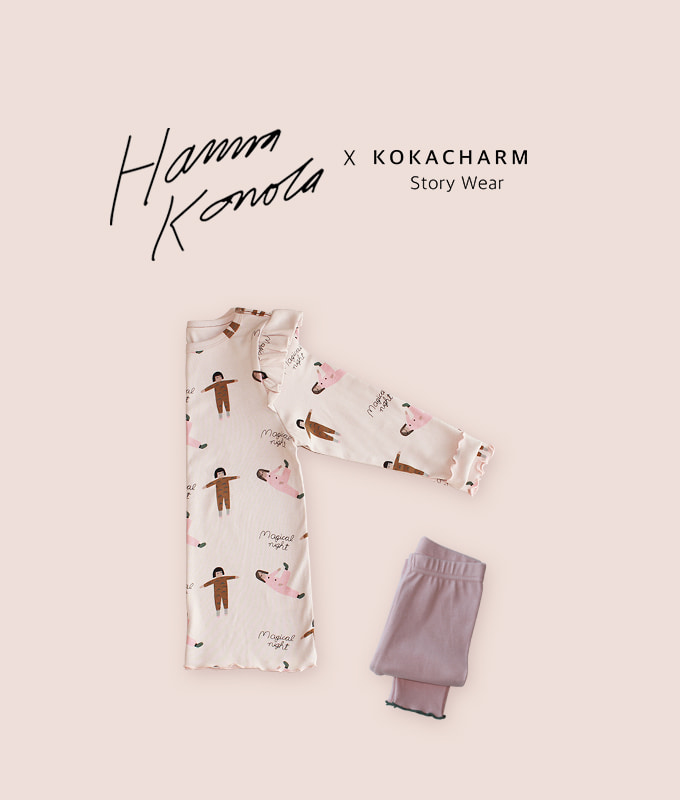 KOKACHARM - BRAND - Korean Children Fashion - #Kfashion4kids - Magical Night Dress Pants Set