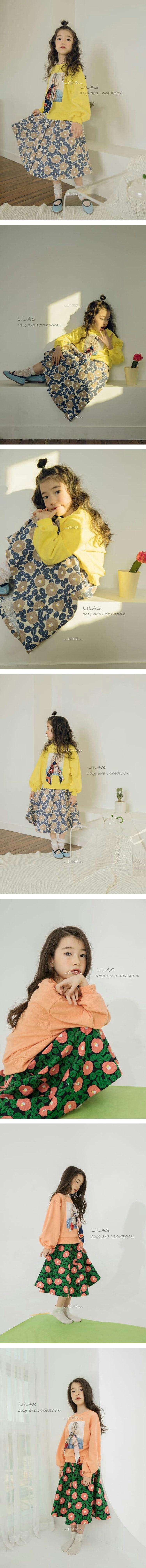 LILAS - Korean Children Fashion - #Kfashion4kids - Camellia Skirt