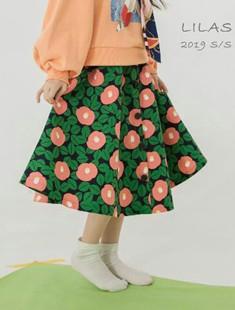 LILAS - BRAND - Korean Children Fashion - #Kfashion4kids - Camellia Skirt