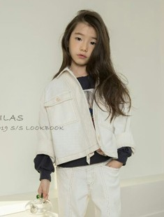 LILAS - BRAND - Korean Children Fashion - #Kfashion4kids - Nine Denim Jacket