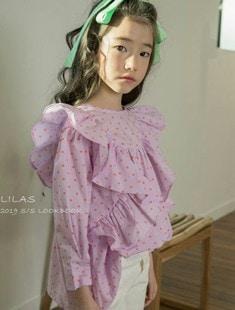 LILAS - BRAND - Korean Children Fashion - #Kfashion4kids - Muse Frill Blouse