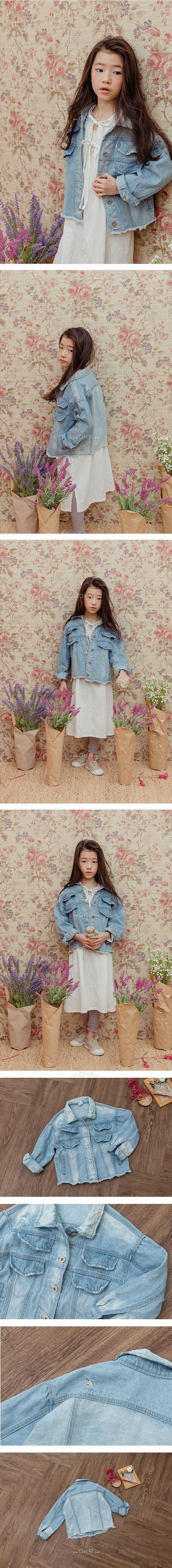 MILK POWDER - Korean Children Fashion - #Kfashion4kids - Double Denim Jacket