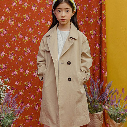 MILK POWDER - BRAND - Korean Children Fashion - #Kfashion4kids - Basic Long Coat